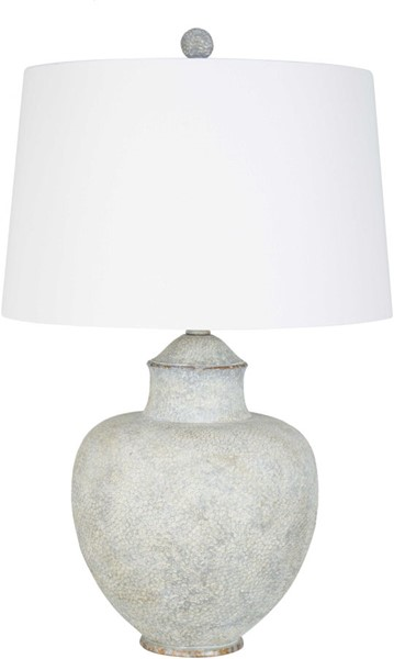 Surya Cooper Light Gray Linen Table Lamp - 18x27.50 CPLP-005