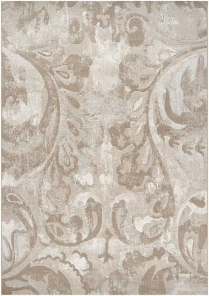 Contempo Olive Ivory Beige Polypropylene Area Rug (L 90 X W 63) CPO3706-5376