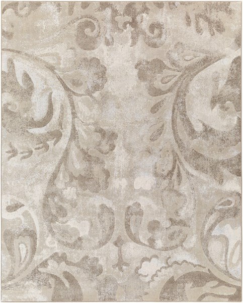Contempo Olive Ivory Beige Polypropylene Area Rug (L 120 X W 94) CPO3706-71010