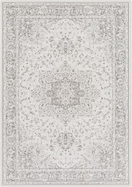 Surya Contempo Light Gray Charcoal White Polypropylene Area Rug - 90x63 CPO3842-5376