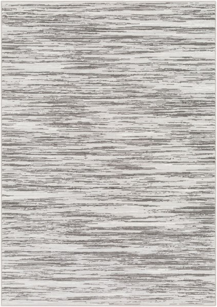 Surya Contempo Light Gray White Charcoal Polypropylene Area Rug - 153x110 CPO3844-92129