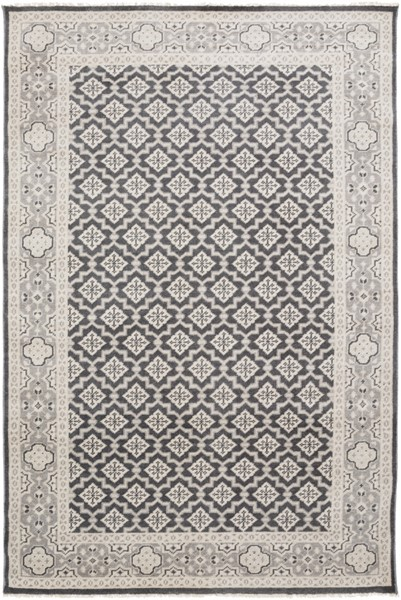 Cappadocia Charcoal Gray Sea Foam Wool Area Rug - 66 x 102 CPP5000-5686