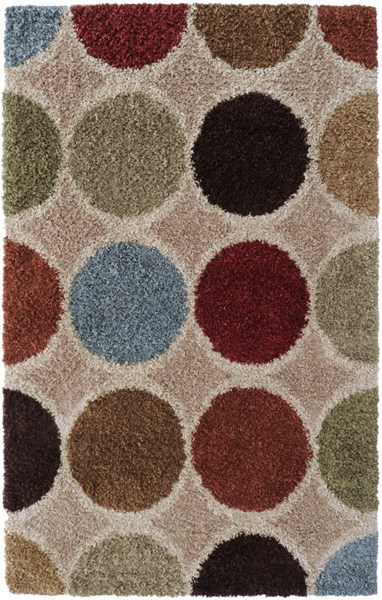 Concepts Taupe Moss Burgundy Polypropylene Area Rug (L 90 X W 63) CPT1716-5376