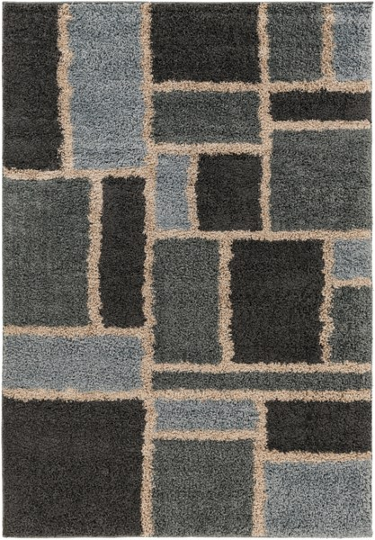 Concepts Modern Taupe Moss Charcoal Olefin Area Rug (L 90 X W 63) CPT1735-5376