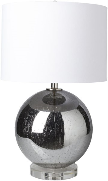Surya Crosby White Glass Crystal Table Lamp - 16x26.50 CRB-100