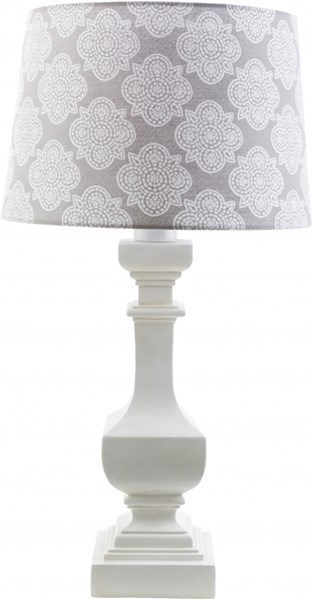 Carolina White Gray Resin Polyester Table Lamp - 14x29 CRI440-TBL