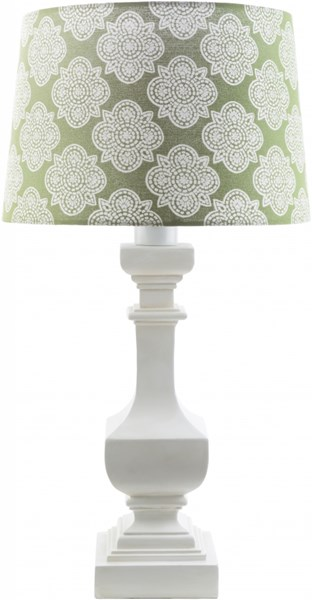 Carolina White Green Resin Polyester Table Lamp - 14x29 CRI442-TBL