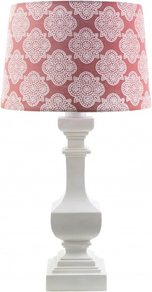 Carolina White Coral Resin Polyester Table Lamp - 14x29 CRI443-TBL