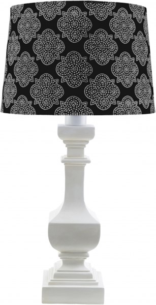 Carolina White Black Resin Polyester Table Lamp - 14x29 CRI446-TBL