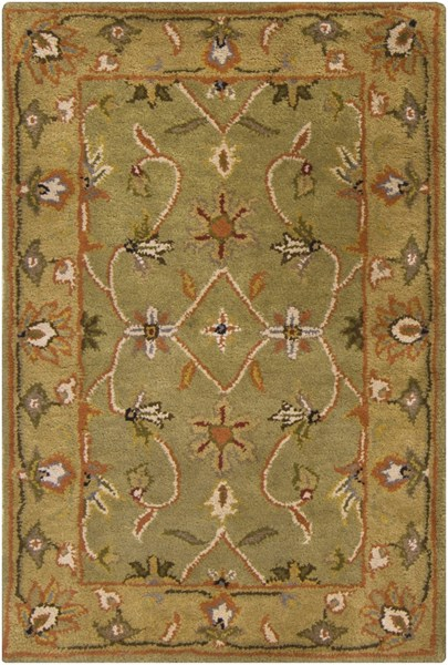 Crowne Contemporary Olive Lime Rust Fabric Persian Rug CROWNE-DCR-BNDL