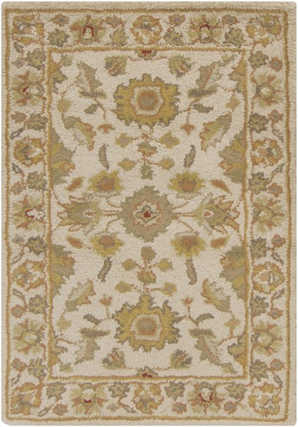 Crowne Taupe Gold Light Gray Wool Area Rug (L 36 X W 24) CRN6011-23