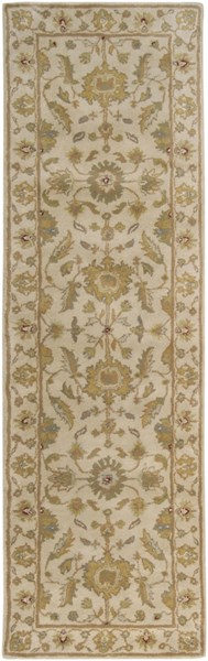 Crowne Taupe Gold Light Gray Wool Runner - (L 96 X W 30) CRN6011-268