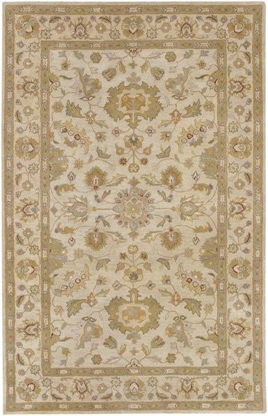 Crowne Taupe Gold Light Gray Wool Area Rug (L 96 X W 60) CRN6011-58