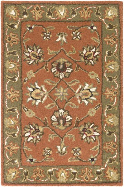 Surya Crowne Camel Dark Brown Black Wool Area Rug - 36x24 CRN6019-23