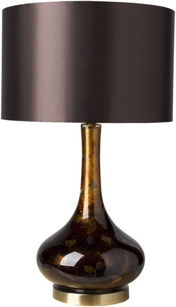 Surya Carroll Dark Brown Glass Table Lamp - 16x27 CRR-100