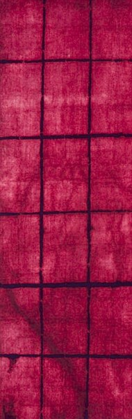 Cruise Hot Pink Eggplant Wool Area Rug (L 96 X W 30) CRS7002-268