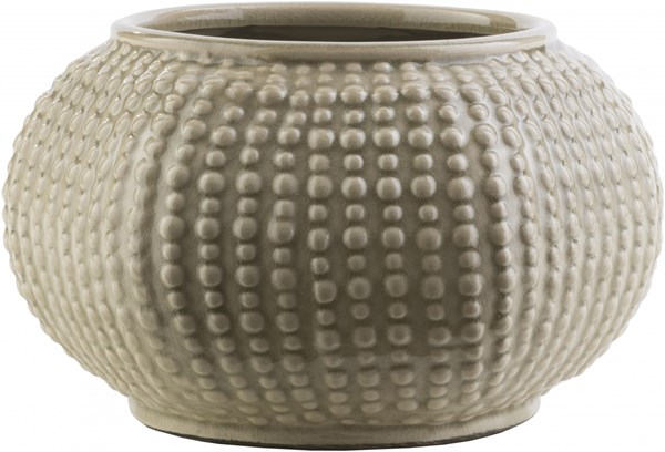 Clearwater Olive Gray Ceramic Table Vase (L 9.25 X W 10.04 X H 5.91) CRW401-M