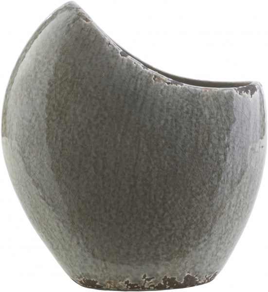 Clearwater Charcoal OliveCeramic Table Vase - 8.86 x 4.33 x 9.84 CRW415-M