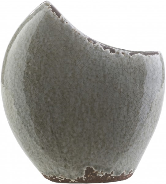 Clearwater Charcoal Olive Ceramic Table Vase -7.09 x 3.15 x 7.87 CRW415-S