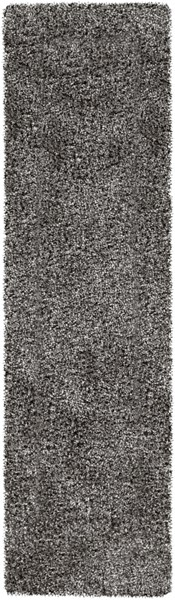 Croix Light Gray Black Polyester Area Rug (L 96 X W 27) CRX2990-238