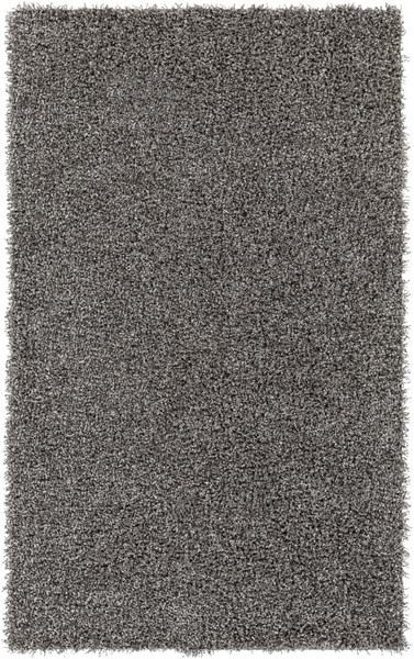 Croix Light Gray Black Polyester Area Rug (L 90 X W 60) CRX2990-576