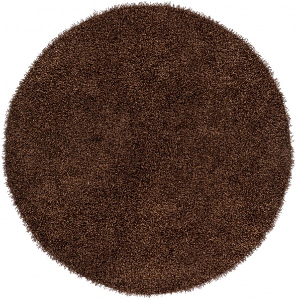 Croix Tan Black Polyester Round Area Rug (L 96 X W 96) CRX2994-8RD