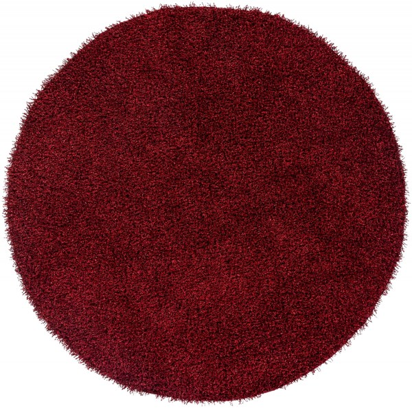Croix Poppy Black Polyester Round Area Rug (L 96 X W  96) CRX2996-8RD