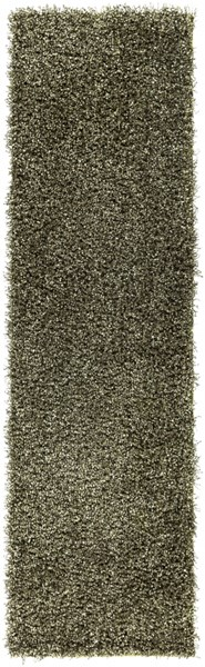 Croix Lime Black Polyester Area Rug (L 96 X W 27) CRX2998-238