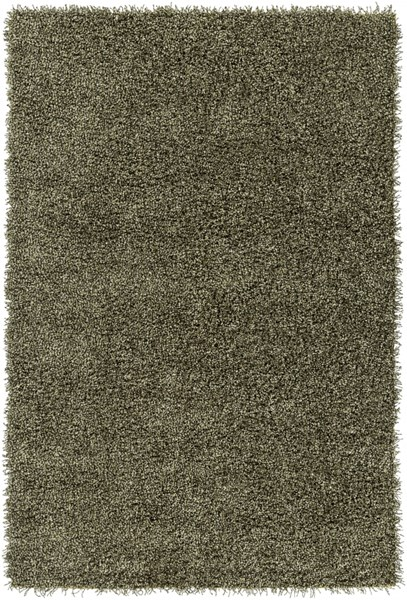 Croix Lime Black Polyester Area Rug (L 90 X W 60) CRX2998-576