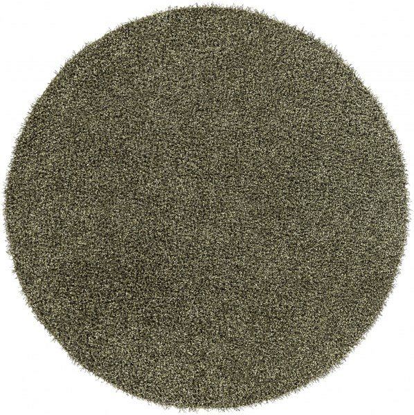 Croix Lime Black Polyester Round Area Rug (L 96 X W 96) CRX2998-8RD