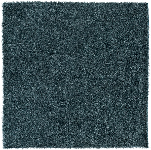 Croix Teal Black Polyester Square Area Rug (L 96 X W 96) CRX2999-8SQ