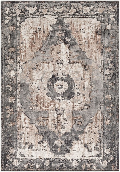 Surya Chelsea Charcoal Camel Dark Brown Polypropylene Area Rug - 36x24 CSA2304-23