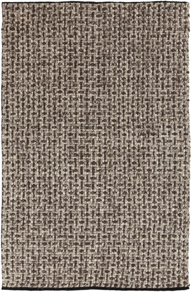 Cascade Chocolate Beige Wool Area Rug - 60 x 96 CSD102-58
