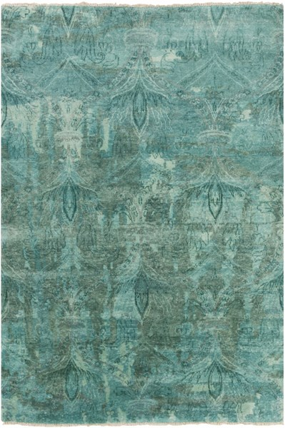 Cheshire Teal New Zealand Wool Area Rug - 66 x 102 CSH6003-5686