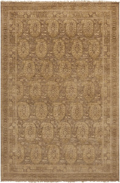 Cheshire Beige Olive New Zealand Wool Area Rug (L 102 X W 66) CSH6009-5686