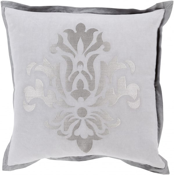 Cosette Light Gray Charcoal Down Linen Throw Pillow - 22x22x5 CT001-2222D