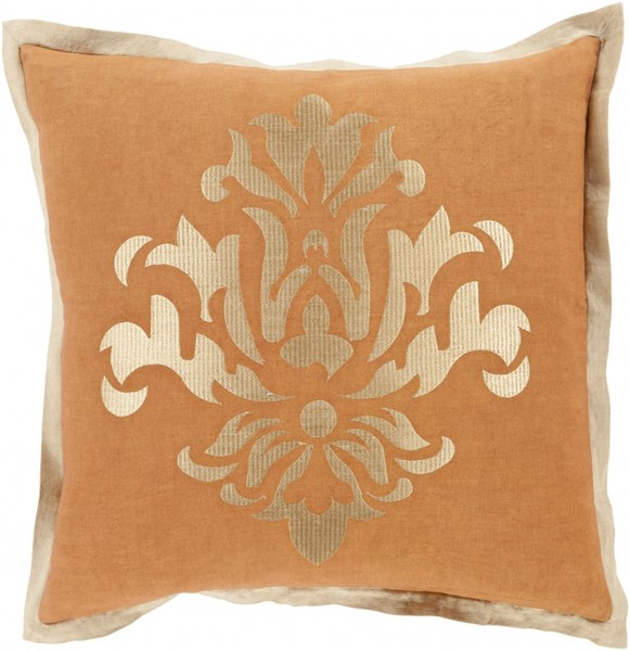 Cosette Tan Beige Poly Linen Throw Pillow - 18x18x4 CT006-1818P