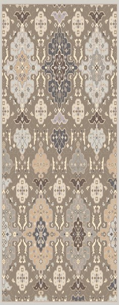 Castille Gray Charcoal Mauve Wool Area Rug - 30 x 96 CTL2006-268