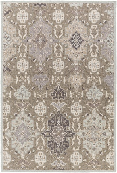 Surya Castille Taupe Ice Blue Charcoal Wool Area Rug - 120x96 CTL2006-810