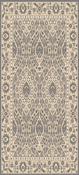 Castille Charcoal Light Gray Taupe Wool Area Rug - 30 x 96 CTL2008-268