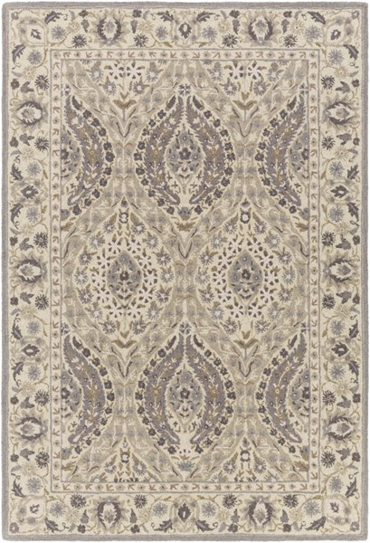 Castille Charcoal Light Gray Taupe Wool Area Rug - 60 x 90 CTL2008-576