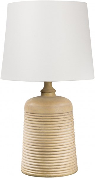Carter Light Wood Tone Resin Linen Table Lamp - 13x23 CTLP-001