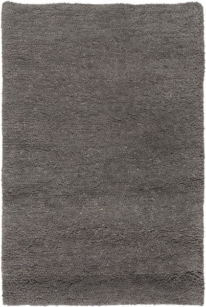 Cotswald Charcoal Cotton Wool Area Rug (L 36 X W 24) CTS5002-23
