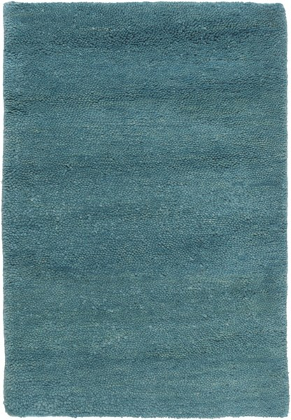 Cotswald Teal Cotton Wool Area Rug (L 36 X W 24) CTS5008-23