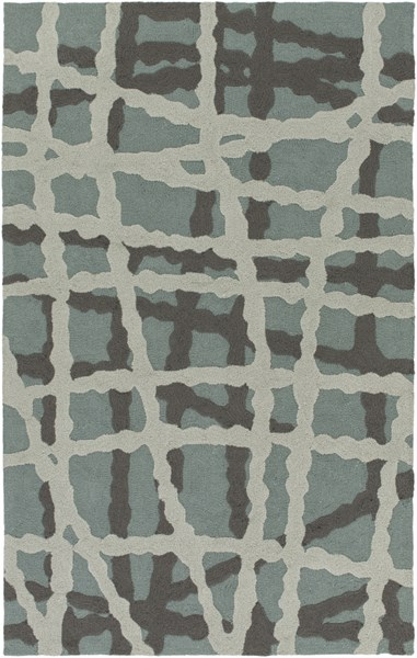 Courtyard Moss Gray Charcoal Polypropylene Area Rug (L 90 X W 60) CTY4007-576
