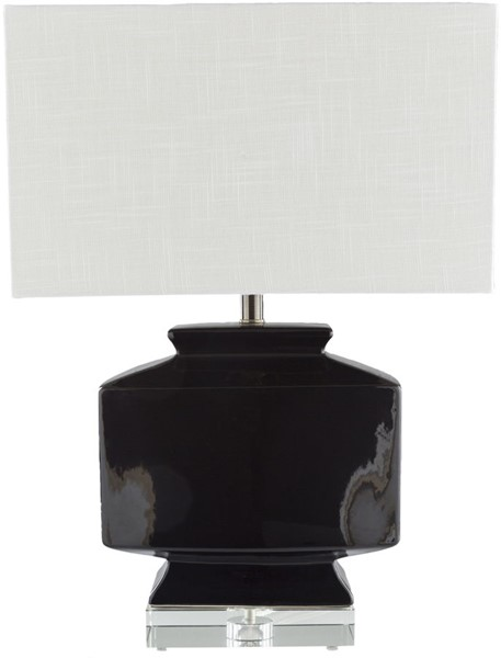 Surya Cutler Black Ceramic Table Lamp - 18x25.50 CUT-001