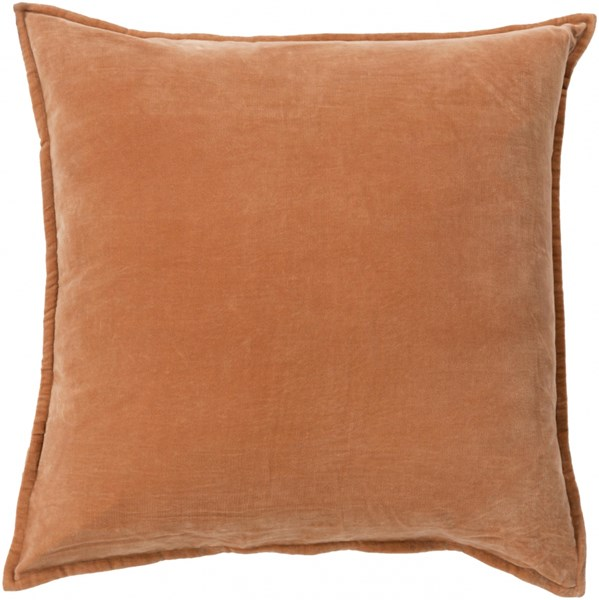 Cotton Velvet Rust Poly Cotton Throw Pillow - 18x18x4 CV002-1818P