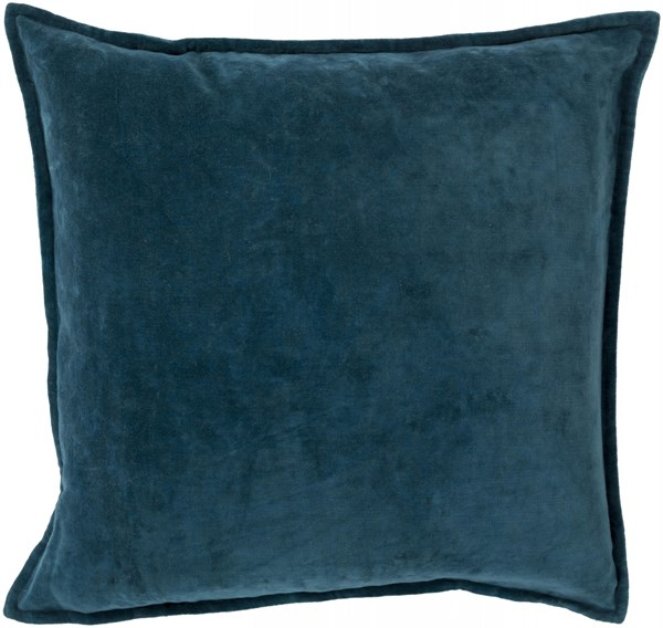 Cotton Velvet Teal Down Cotton Throw Pillow - 18x18x4 CV004-1818D