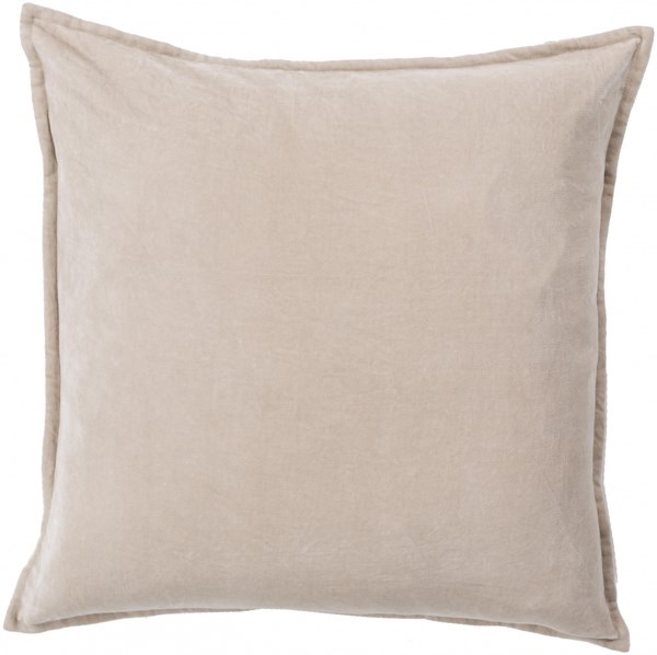 Cotton Velvet Gray Poly Cotton Throw Pillow - 18x18x4 CV005-1818P