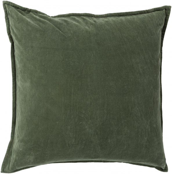 Cotton Velvet Green Poly Cotton Throw Pillow - 20x20x5 CV008-2020P